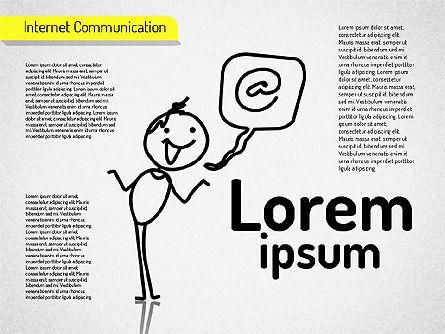 Internet Communication Shapes, Slide 5, 01529, Shapes — PoweredTemplate.com