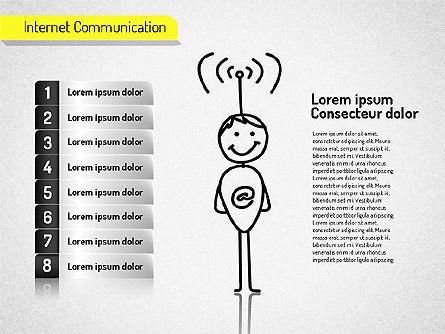 Internet Communication Shapes, Slide 6, 01529, Shapes — PoweredTemplate.com