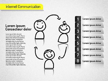 Internet Communication Shapes, Slide 8, 01529, Shapes — PoweredTemplate.com