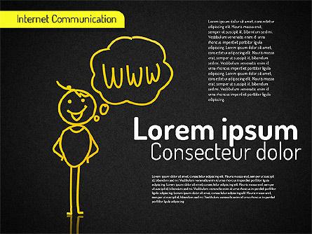Internet Communication Shapes, Slide 9, 01529, Shapes — PoweredTemplate.com