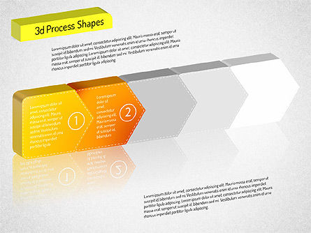 3D Chain Process Arrows Diagram, Slide 10, 01530, Process Diagrams — PoweredTemplate.com