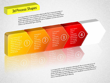 3D Chain Process Arrows Diagram, Slide 12, 01530, Process Diagrams — PoweredTemplate.com