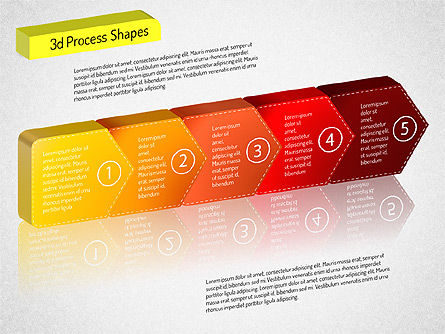 3D Chain Process Arrows Diagram, Slide 13, 01530, Process Diagrams — PoweredTemplate.com