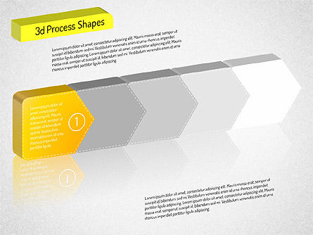 3D Chain Process Arrows Diagram, Slide 9, 01530, Process Diagrams — PoweredTemplate.com