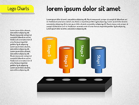 Lego Charts, Slide 9, 01532, Business Models — PoweredTemplate.com