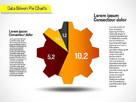 Creative Pie Charts (data driven), 01533, Pie Charts — PoweredTemplate.com