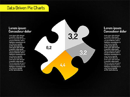 Creative Pie Charts (data driven) Slide 10
