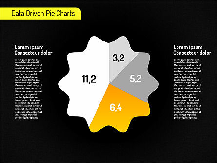 Creative Pie Charts (data driven) Slide 11