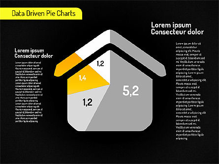 Creative Pie Charts (data driven) Slide 12