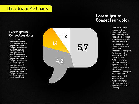Creative Pie Charts (data driven) Slide 13