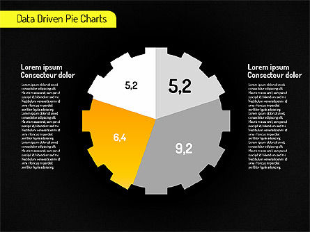 Creative Pie Charts (data driven) Slide 14