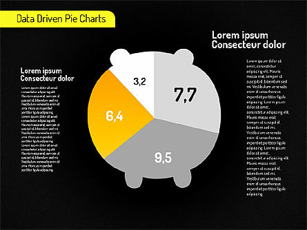 Creative Pie Charts (data driven) Slide 15