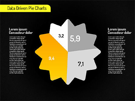 Creative Pie Charts (data driven) Slide 16