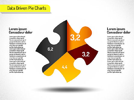 Creative Pie Charts (data driven) Slide 2