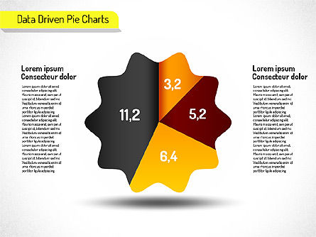 Creative Pie Charts (data driven), Slide 3, 01533, Pie Charts — PoweredTemplate.com