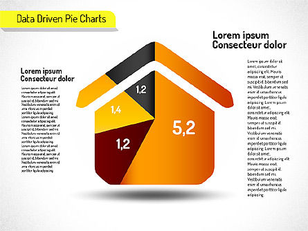 Creative Pie Charts (data driven), Slide 4, 01533, Pie Charts — PoweredTemplate.com