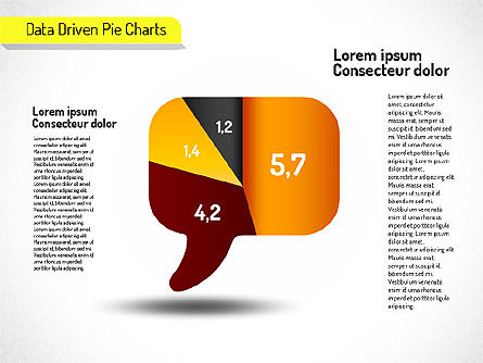 Creative Pie Charts (data driven) Slide 5