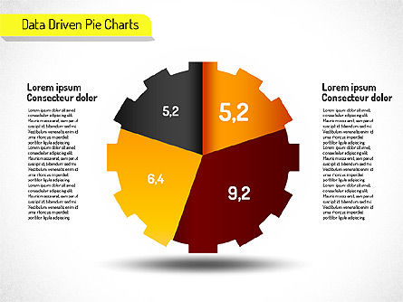 Creative Pie Charts (data driven) Slide 6