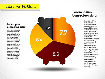 Creative Pie Charts (data driven) Slide 7