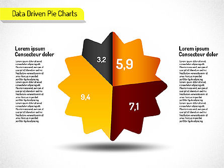 Creative Pie Charts (data driven) Slide 8