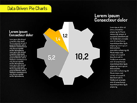 Creative Pie Charts (data driven) Slide 9