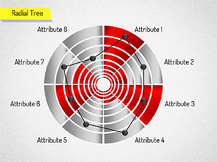 Radial Chart Set, Slide 2, 01534, Pie Charts — PoweredTemplate.com