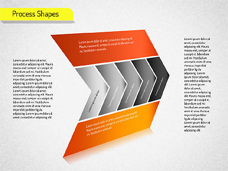 Process Arrows Charts, Slide 4, 01535, Organizational Charts — PoweredTemplate.com
