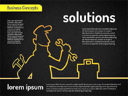 Business Characters, Slide 13, 01540, Business Models — PoweredTemplate.com