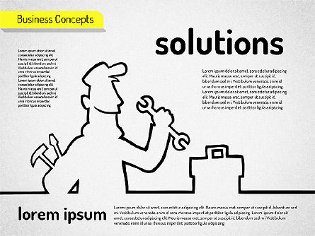 Business Characters, Slide 5, 01540, Business Models — PoweredTemplate.com