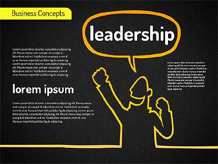 Business Characters, Slide 9, 01540, Business Models — PoweredTemplate.com