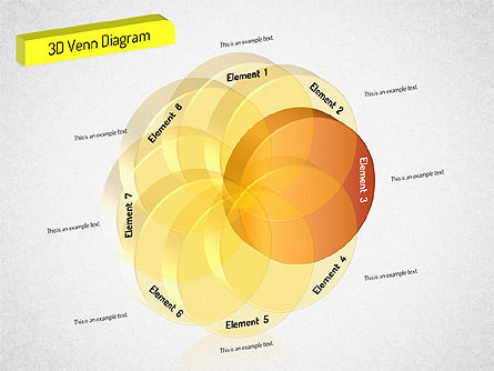 3D Set Diagram, Slide 4, 01541, Business Models — PoweredTemplate.com