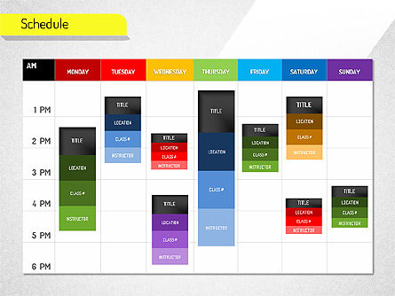 Schedule, Slide 2, 01542, Timelines & Calendars — PoweredTemplate.com