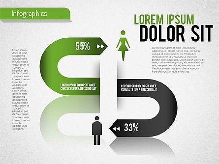 Gender Infographic, 01543, Business Models — PoweredTemplate.com