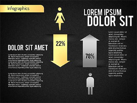 Gender Infographic, Slide 10, 01543, Business Models — PoweredTemplate.com