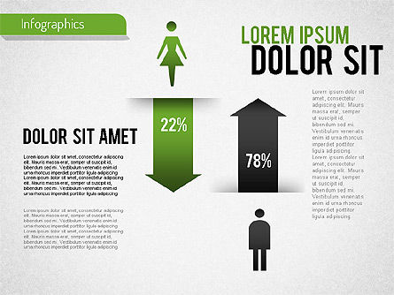 Gender Infographic, Slide 2, 01543, Business Models — PoweredTemplate.com