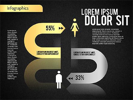 Gender Infographic, Slide 9, 01543, Business Models — PoweredTemplate.com