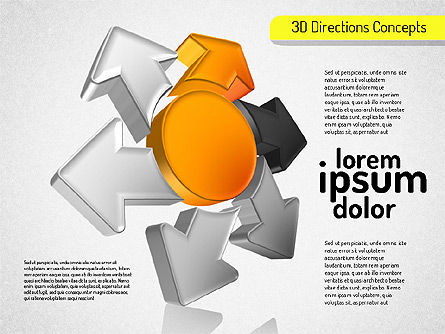 3D Directions Shapes, 01544, Shapes — PoweredTemplate.com