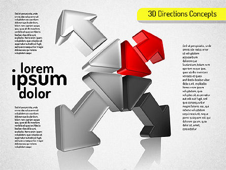 3D Directions Shapes, Slide 2, 01544, Shapes — PoweredTemplate.com