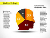 Pie Charts: Creative Pie Diagrams (data driven) #01551