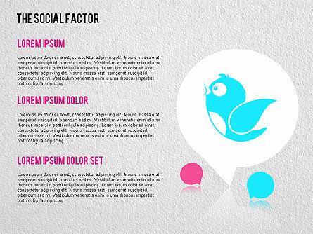 The Social Factor Infographic, Slide 2, 01554, Business Models — PoweredTemplate.com