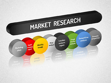 Market Research Diagram, 01559, Business Models — PoweredTemplate.com