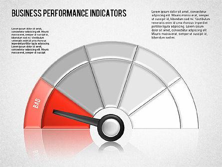 Business Performance Indicator Diagram, Slide 12, 01565, Stage Diagrams — PoweredTemplate.com