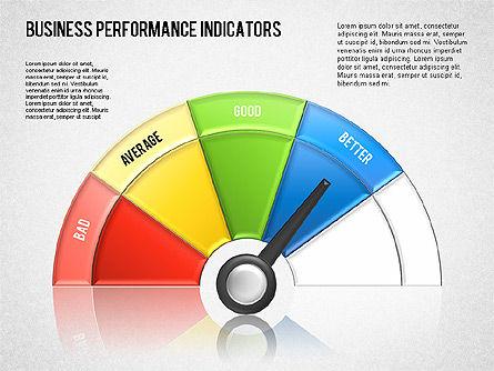 Business Performance Indicator Diagram, Slide 15, 01565, Stage Diagrams — PoweredTemplate.com