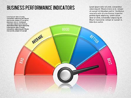 Business Performance Indicator Diagram, Slide 16, 01565, Stage Diagrams — PoweredTemplate.com
