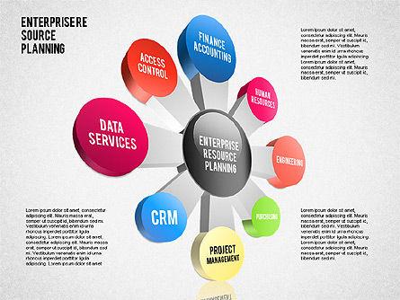 Enterprise Resource Planning Diagram, Slide 10, 01568, Business Models — PoweredTemplate.com