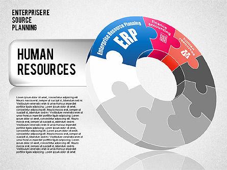 Enterprise Resource Planning Diagram, Slide 3, 01568, Business Models — PoweredTemplate.com