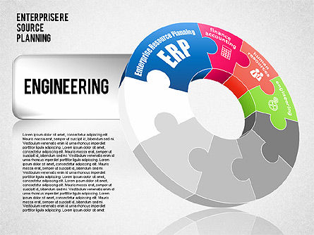 Enterprise Resource Planning Diagram, Slide 4, 01568, Business Models — PoweredTemplate.com