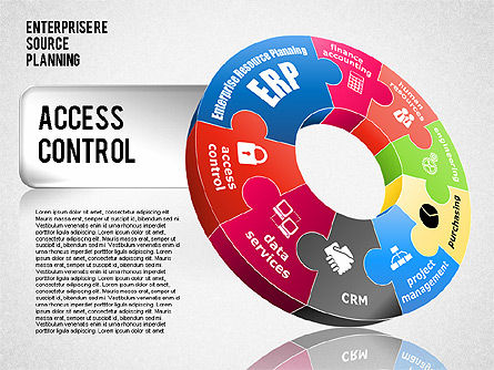 Enterprise Resource Planning Diagram, Slide 9, 01568, Business Models — PoweredTemplate.com