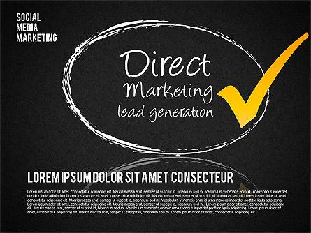 Social Media Marketing Shapes, Slide 10, 01570, Shapes — PoweredTemplate.com