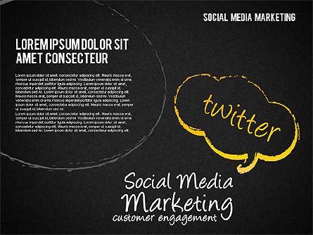 Social Media Marketing Shapes, Slide 11, 01570, Shapes — PoweredTemplate.com